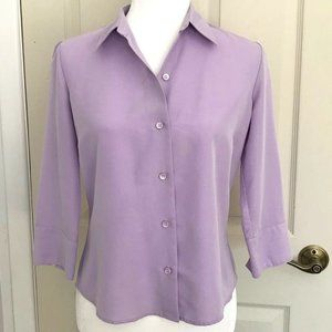 Liz Claiborne Lavender Purple Button Down Blouse